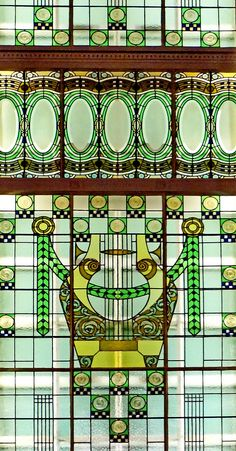 Stained Glass Window - 1907 - by Róth Miksa (Hungarian, 1865-1944) - Liszt Academy of Music, Budapest - Art Nouveau - @~ Mlle