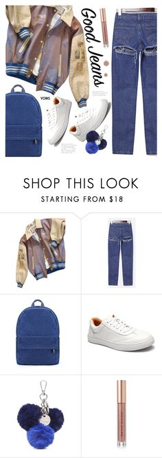 """""""Tear it Up: Distressed Denim"""" by meyli-meyli ❤ liked on Polyvore featuring GUESS by Marciano, Nine West and Kevyn Aucoin"""