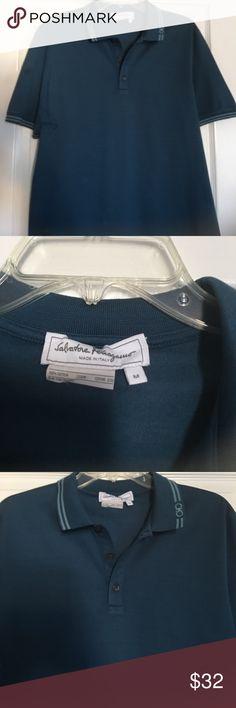 Salvatore Ferragamo men's polo Indigo blue polo. Worn 1 time. Excellent condition Salvatore Ferragamo Shirts Polos