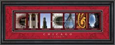 Chicago, Illinois Framed Letter Art