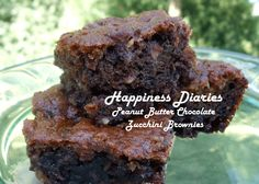 Peanut Butter & Chocolate Zucchini Brownies - Gluten Free Recipe | Happiness Diaries