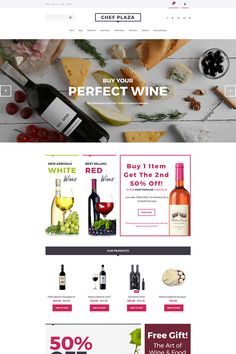 Chef Plaza - Food & Wine Store MotoCMS Ecommerce Template #63748