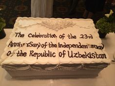 Tremendously big cake prepared for the anniversary party of the Independence Day our Uzbekistan!