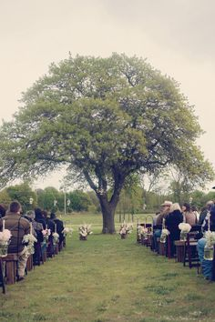 Amazing outdoor altar. Wedding by Erica Weddings. Photo by Artworks Tulsa Photography. #wedding #altar #tree #rustic #southern