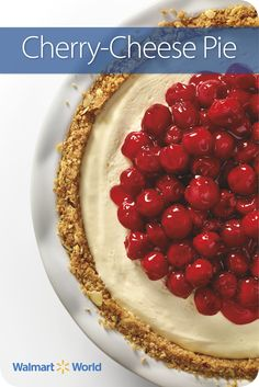 Elisha W., an associate at Store 1894 in Medina, Ohio, says her Cherry-Cheese Pie is similar to the one her grandmother made—except her grandmother used fresh cherries. #simple #dessert #recipe