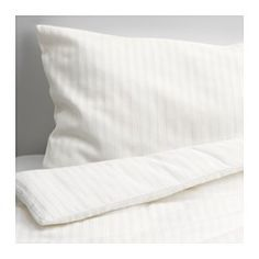 IKEA - LEKLYSTEN, Crib duvet cover/pillowcase, , Cotton is soft and feels nice against your child's skin.