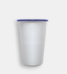 Thin and lightweight, these tumblers are fused with smooth porcelain onto metal, for juice milk, or icy summer cocktails.
