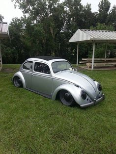 Slammed Vw beetle. Love the black and gray combo.