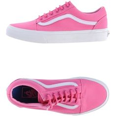 Vans Sneakers ($35) ❤ liked on Polyvore featuring shoes, sneakers, fuchsia, vans footwear, vans sneakers, round toe sneakers, round toe flat shoes and fuschia flat shoes