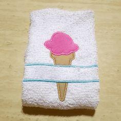 Ice Cream Cone Split Applique Embroidery Design