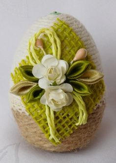 PISANKA DO KOSZYCZKA,OZDOBY WIELKANOC,RĘKODZIEŁO 7785205285 - Allegro.pl Easter Flower Arrangements, Easter Flowers, Egg Shell Art, Christmas Candle Decorations, Easter Crochet, Egg Art, Easter Crafts For Kids, Egg Decorating, Easter Baskets