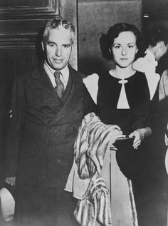 Paulette Goddard and husband Charlie Chaplin