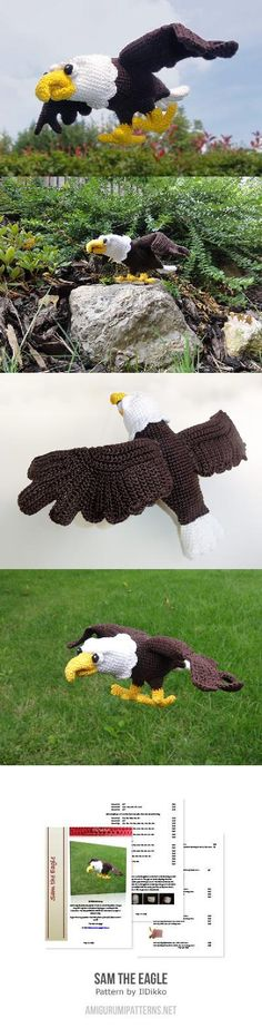 Sam the eagle amigurumi pattern