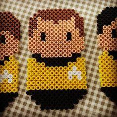 Pärlplatte-alfabets-Star Trek, K: James Tiberius Kirk, den mest legendariske befälhavaren i Trek-universumet. Lysande slagsmålskämpe och stor förförare av allehanda jordiska och utomjordiska kvinnor, fast han skärpte till sig på gamla dar. Star Trek (1966-1969), Star Trek: The Animated Series (1973-1974) och nio långfilmer hittills (1979-2013). #pärlplatta #startrek #jamestkirk #kirk