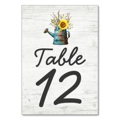 #wedding - #Sunflower & Rustic Wood Farm Wedding Table Number