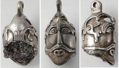 10th century Viking silver pendant Aska, Hagebyhöga. Östergötland, Sweden.