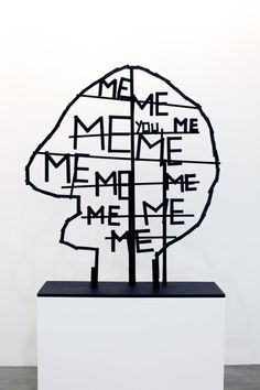 Olaf Breuning, me, me, me, you and me, 2009 - we all know someone like this.