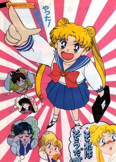 Animedia - Sailor Moon S article. Sailor Moon Aesthetic, Aesthetic Anime, Wallpaper Animé, Poster Anime, Japanese Poster Design, Kpop Posters, Posters Vintage, Sailor Moon Wallpaper, Japon Illustration