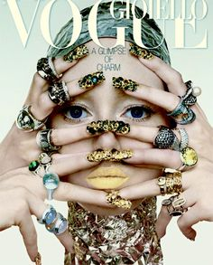 Beauty bling; What a fabulous Vogue Cover!