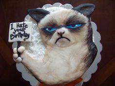 Grumpy cat cake #GrumpyCat  #Cakes