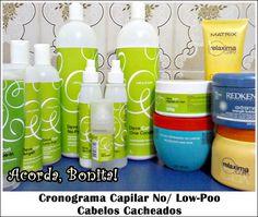 Cronograma Capilar No Poo/ Low Poo para Cabelos Cacheados