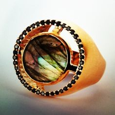 Apex Ring in Labradorite #deandavidson #apexring #fire #loveFollow