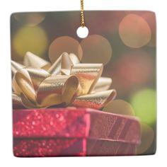 Christmas Presents Ceramic Ornament - Xmas ChristmasEve Christmas Eve Christmas merry xmas family kids gifts holidays Santa