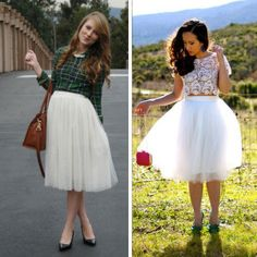 Tulle is always lovely, and it is even more lovely as a white tulle skirt that goes beautifully with your staple! White Tulle Skirt, Skirt Fashion, Tutu, High Waisted Skirt, Ballet Skirt, Victoria, Womens Fashion, Skirts, Model