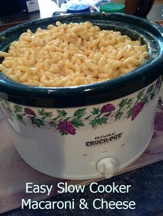 EASY Slow Cooker Macaroni & Cheese! SO EASY! We've had over 36,000 repins on this recipe alone!  #Recipes #Slowcooker