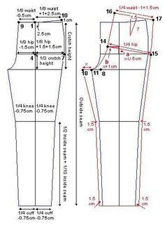 How to draft a pants pattern Patron pantalon bebe enfant Dress Sewing Patterns, Sewing Patterns Free, Sewing Tutorials, Clothing Patterns, Pattern Drafting Tutorials, Free Tutorials, Skirt Patterns, Coat Patterns, Blouse Patterns