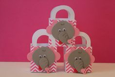 Personalized Elephant and Pink Chevron Print Kids by AnooshFavors, $28.00