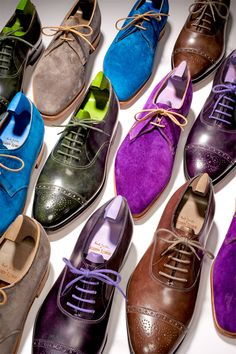 The Upgrade: Leather oxfords ($1,295) and suede derbies ($1,275) by Paul Smith & John Lobb.    From the January 2013 issue