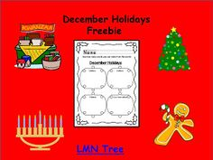 Classroom Freebies Too: Making Words with a December Holiday Activity