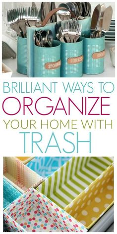 10 DIY Ways To Organize With Recyclable Items – Organization Obsessed – clevere Ideen – Recycling