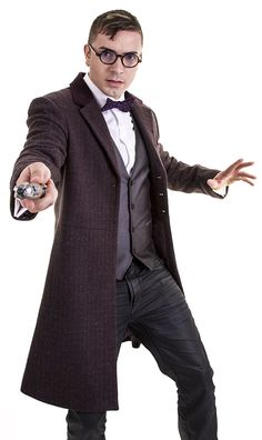 Doctor Who: Eleventh Doctor's Purple Coat Oooh, look – a purple frock coat! Love a frock coat – used to rock these bad boys back in the day, but then the 80's came and suddenly the question mark was all the rage.
