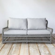 Curved All Weather Wicker Sofa