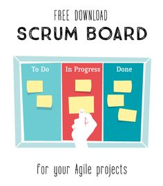Scrum Board for your Agile projects, vector illustration by Hurca!
