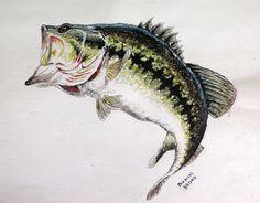 Largemouth Bass Art Largemouth bass