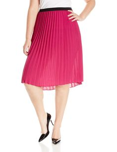 BB Dakota Women's Plus-Size Jana Pleated Skirt: Amazon.ca: Clothing & Accessories