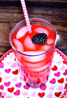 Setting Valentine's Day table and Classic Shirley Temple Drink at ReluctantEntertainer.com