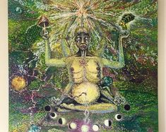 Visionary Art by Domè Moon. Clear the amnesia and awaken to your Divine Feminine wisdom.   See available art. Paintings For Sale, Original Paintings, Earthy Decor, Cosmic Art, Wall Art Prints, Poster Prints, Meditation Art, Visionary Art