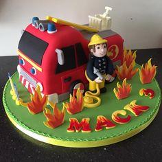 Fireman Sam cake - Cake by Donnajanecakes Fireman Sam Birthday Cake, Thomas Birthday Cakes, Fireman Sam Cake, 4th Birthday, Birthday Parties, Ballerina Cakes, Cupcake Cookies, Cupcakes, Home Baking