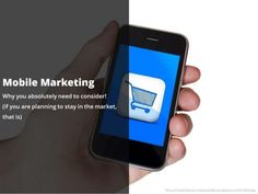 The Change in the Buyer experience and buyer spending more time on Mobile has raised the question - Why you absolutely need to consider Mobile Marketing?  We try to answer this question and equip you using benchmark techniques that smart marketers have adapted over the years. http://www.slideshare.net/xerago/mobile-marketing-slideshare-deck-final