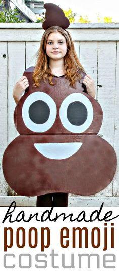 How to Make A Poop Emoji Costume For Kids - Easy DIY Halloween Costume #Halloween #Costume #DIYCostume