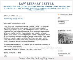 Law Library Letter - Click to visit blog:  http://1.33x.us/ItPo5C