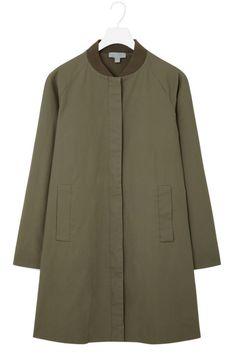 Cos Coat With Ribbed Neckline, $175; cosstores.com