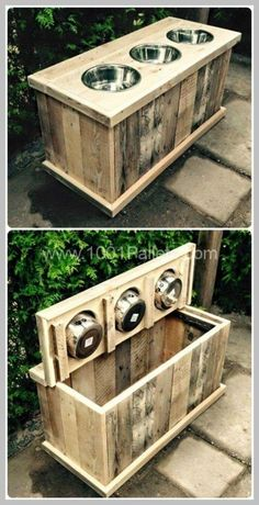 Dog House Training - How to Make It Easy and Effective | Dog House ** You can find more details by visiting the image link. #rescue Old Pallets, Recycled Pallets, Palette Deco, Build Outdoor Kitchen, Niches, Dog Furniture, Pallet Furniture, Furniture Projects, Luxury Furniture