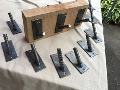 This Industrial Welded Steel Rebar Coat Hooks is just one of the custom, handmade pieces you'll find in our hooks & fixtures shops. Diy Welding, Welding Table, Metal Welding, Welding Design, Metal Projects, Welding Projects, Diy Projects, Metal Crafts, Industrial Style