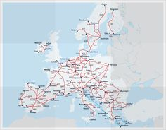 average travel times between popular Eurail destinations to help you plan out your route across Europe