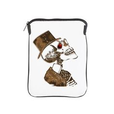 Steampunk Preacher Skeleton iPad Sleeve